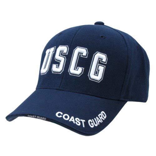 Coast Guard Baseball Hat - U.S. Coast Guard Cap Navy Military Branch Hat Cap Hats TEXT LOGO