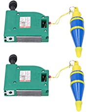 Plumb Bob Setter, 2 Set Magnetic Straight Level Setter Test Device with 5 Meters String, Auto Recoil Cord Wire Hammer for Building Measurement