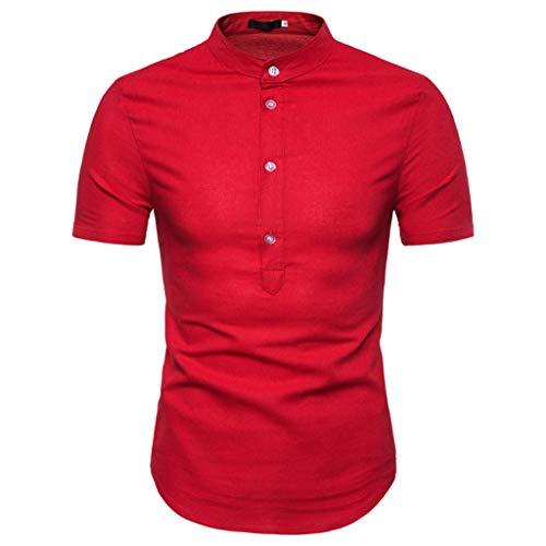 Men Casual Summer Plaid Print Button Short Sleeve Hawaiian T-Shirt Tops Blouseshawaiian t-Shirt Mens Tronet