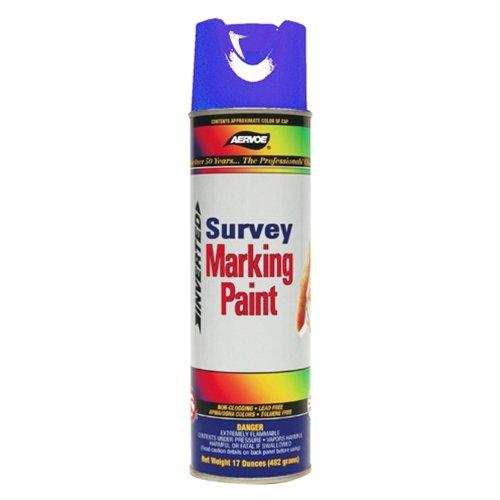 Survey Marking - Aervoe 227 Fluorescent Survey Marking Paint, Aerosol 20 oz. (Blue)