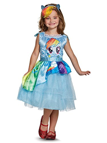 Rainbow Dash Movie Classic Costume, Blue, X-Small (3T-4T)