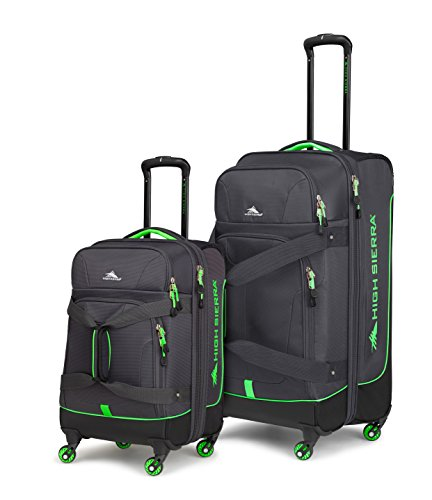 High Sierra Alameda 2Pc Spinner Set, Mercury/Black/Lime,