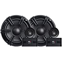 MB Quart DC1-216 Discus 2-Way Car Component Speaker System with 1-Inch Aluminum Dome Tweeter on Silk Surround, 6.5-Inch, Set of 2