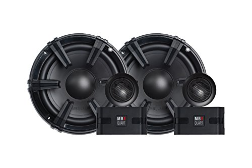 MB Quart DC1-216 Discus 2-Way Car Component Speaker System with 1-Inch Aluminum Dome Tweeter on Silk Surround, 6.5-Inch, Set of - Inch Set Component 6.5