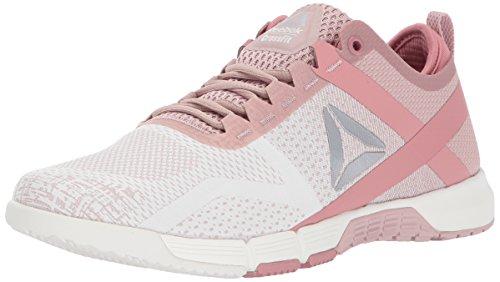 (Reebok Women's Crossfit Grace TR Track Shoe, Shell Pink/Chalk/Sandy Rose/Silver Metallic, 10 M US)
