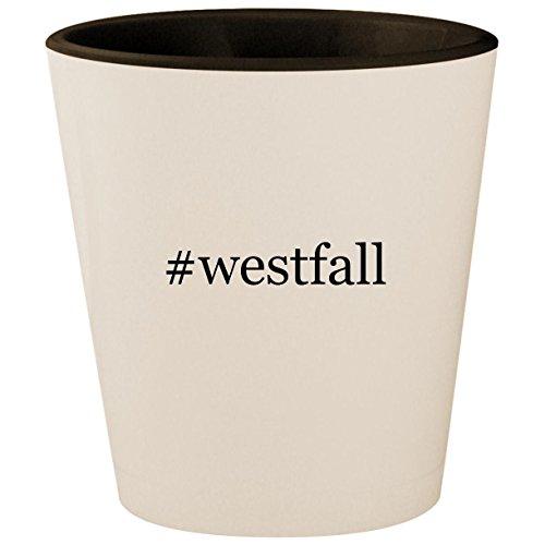(#westfall - Hashtag White Outer & Black Inner Ceramic 1.5oz Shot Glass)