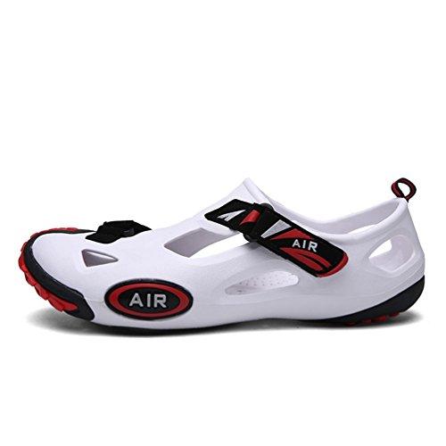 de Blanc Pantoufles Leakage Coréen Casual Respirant Sandales Trou rouge Chaussures Et Jardin Plage Slip Brooks Hommes Chaussures PxZwqCnH