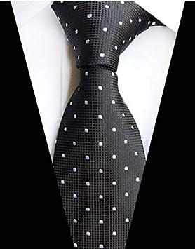 LFLJIE Nueva Corbata clásica de 8 cm para Hombre Corbata de Seda ...