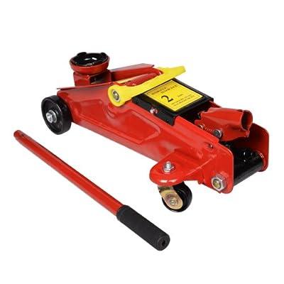Goplus® New Mini Red Hydraulic Trolley Jack 2 Ton 4000 lbs Hydraulic Floor Jack Lift Tool On Wheels w/ Case