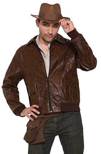 Forum Novelties Men's 40's WWII Faux Suede Costume Jacket, Brown ()
