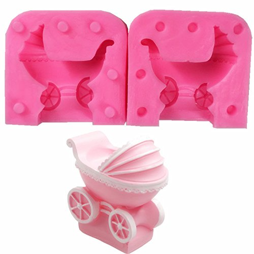 SEPTEMBER Baby Carriage Silicone Molds Cake Decorating Mold Candy Baking Small Pastry Mould Fondant Handmade Mould Candle Moulds Chocolate Molds Soap -