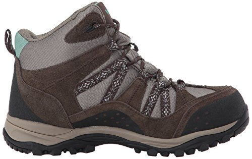 footlocker finishline cheap price Northside Womens Freemont Leather Mid Waterproof Hiking Boot Dark Brown/Sage new arrival cheap price b4XTaGB