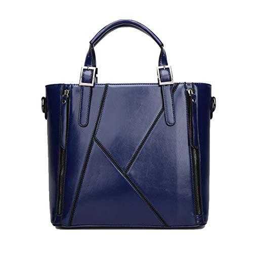 Simple Capacity blue Female G Bag Fashion D Box Blue PU Large Shoulder Messenger Handbag Single Ladies gE40xqw