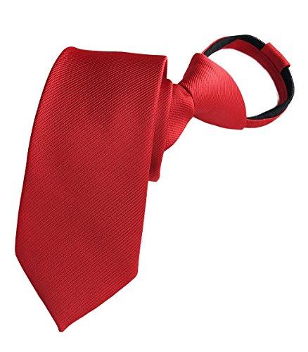 (Men Cherry Red Silk Neckties Vintage Cravat Ribbed Best Bridegroom Designer Ties)