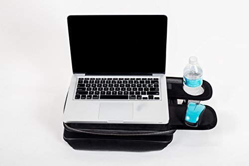 TaboLap Laptop Bag Converts to a Lap Desk Lap Desk for Laptop with a Cup Holder, Retractable Trays, Use Back of The Tray as Mouse Pad. Portable LapDesk Laptop Bag 13 inches, Black Neoprene (1 Drawer Laptop Desk Reclaimed Wood Homestar)