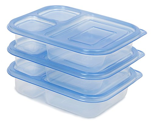 [87% OFF - Sale Ends Dec 24] Lunch Box / Food Storage Container with Lid (NOT Leak-Proof)   FDA-Approved & Food-Safe (BPA- & Phthalate-Free)   Reusable, Microwave-Safe   3-Compartment, Set of 3 (Bottle Holder Bag Insert compare prices)