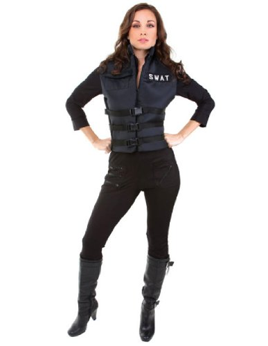 [Underwraps Women's Lady Swat, Black, Small] (Swat Costume For Women)