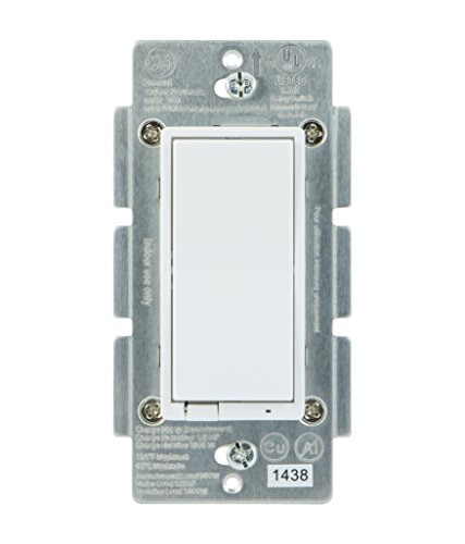 GE Z-Wave Wireless Smart Lighting Control Smart Switch, On/Off, In-Wall, Includes White (Ge Electric Switch)