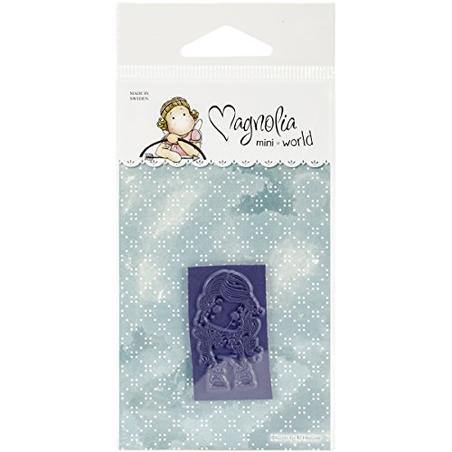 Magnolia 2.5 by 5.75-Inch Ribbon Cling Stamp Package, Mini, Hear No Evil Tilda, Pink and Blue