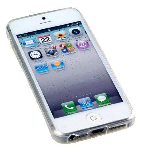 Transparent Silikon Case für iPhone 5, 5S, 5G Schutz Cover Hülle + Schutzfolie klar