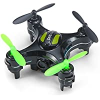 Lcyyo@ DHD D2 Mini 2.4Ghz 4CH 6-Axis Gyro Drone 2.0MP HD Camera RC Quadcopters with Camera-shaped Transmitter for Kids Adults (Black)