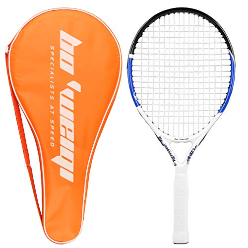 YJONS 2 Pack Trained Badminton Rackets, Sports Carbon Fiber Lightweight Badminton Racquet, for Professional & Beginner Players (2)