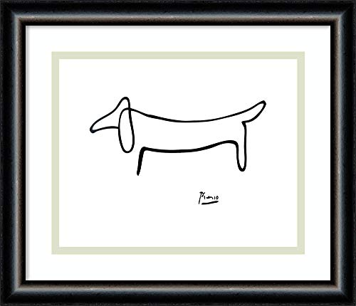 Dog Line Art - Framed Wall Art Print   Home Wall Decor Art Prints   Le Chien (The Dog) by Pablo Picasso   Modern Decor