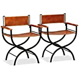 """Folding Chair Leather Indoor&Outdoor Chair for Kitchen, Dining, Bedroom, Living Room 23.2""""x18.9""""x30.3"""" by BLUECC (2)"""