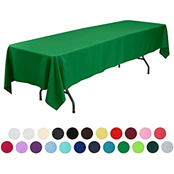 Elegant VEEYOO 60 X 126 Inch Rectangular Solid Polyester Tablecloth For Wedding  Restaurant Party , Green