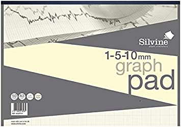 Ref W13G Grid 50 Sheets A3 Wove Exacompta Chartwell 5954 Graph Pad 85 gsm with Scale Area 380 x 280 mm Cream
