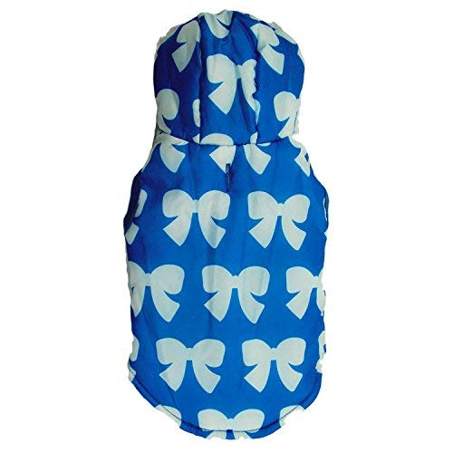 bluee M HSDDA Party Pet Costume Pet Supplies Misc Pet clothing dog clothes with hood cotton tatto Teddy pet vest autumn and winter models (color   bluee, Size   L) Pet Uniform (color   bluee, Size   M)