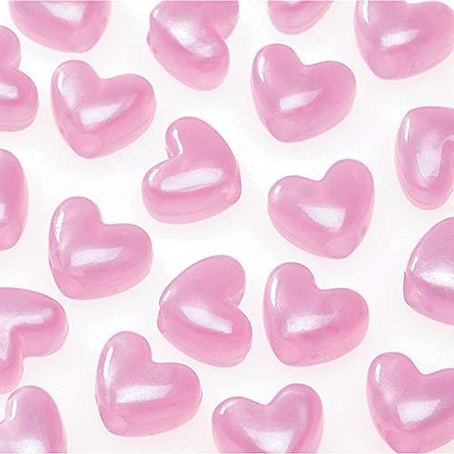 (Pony Beads 06277-1-134 Bead Pony Heart Pearl 11 mm Pink)