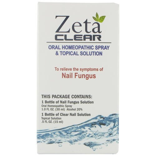 Zeta Clear Nail Fungus Pack 1 Oral Spray And 1 Nail Brush