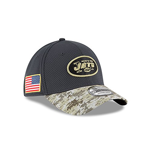 Men's New Era NFL New York Jets 16 Salute To Service Sideline Hat Camo Size Large/X-Large