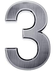 Homyl Zilver zelfklevende cijfers cijfers cijfers DIY huisnummer 0-9 - nummer 3