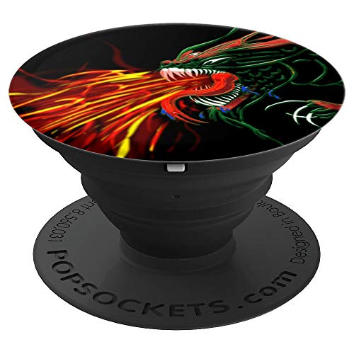 Fire Breathing Dragon cell and tablet accessory - PopSockets Grip and Stand for Phones and Tablets -