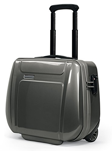 Cartella Piquadro Odissey nero e grigio porta computer con trolley system e lucchetto TSA CA2334OY/NGR