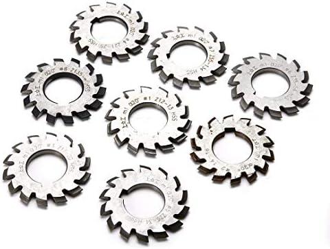NO LOGO 8pcs M1 HSS Evolventenrades Fräser Set 20 Grad 22mm Bohrung # 1-8 Sortiment Kit Set for Milling Machine Tools