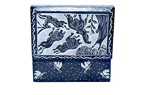 Black Soapstone Ractengular Shape Marble jewellary Box/Marble Gift Item/Marble Showpiece/Gift for Girlfriend/Anniversary - Cookware Living Stone Marble