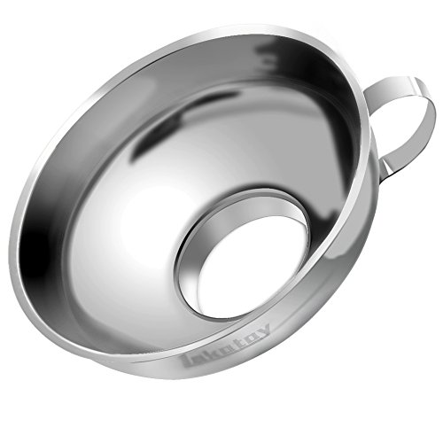 Lakatay 5.5-inch Wide-Mouth Stainless Steel Canning Funnel with Handle for Wide Mouth Jars and Regular Use (Neck-5.5cm)