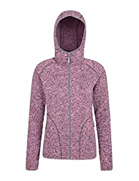 Mountain Warehouse Nevis Womens Fleece Jacket - Full Zip Ladies Coat Pink 12
