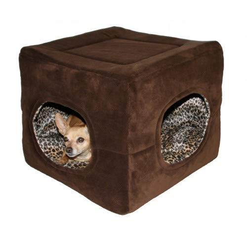 Brown One Size Brown One Size Hip Doggie Deluxe 2 Door Dog Cat House Bed