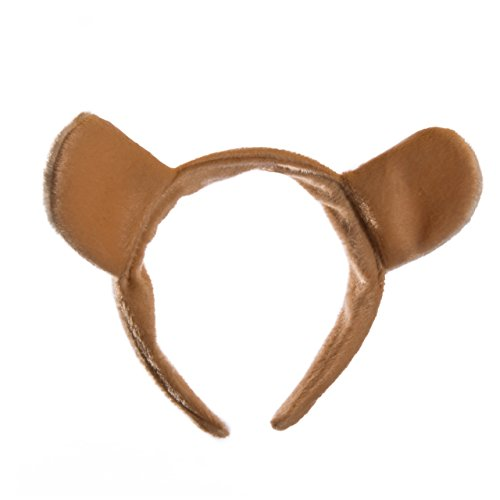 Wildlife Tree Plush Mountain Lion Ears Headband Accessory for Cougar Costume, Cosplay, Pretend Animal Play Safari Party Costumes by Wildlife Tree (Image #2)