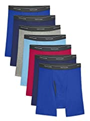 Fruit of the Loom cooling assorted men's boxer briefs take your favorite everyday underwear to the next level. These boxer briefs are made with a mesh fly that provides ventilation and support right where you need it. With no ride up legs and...