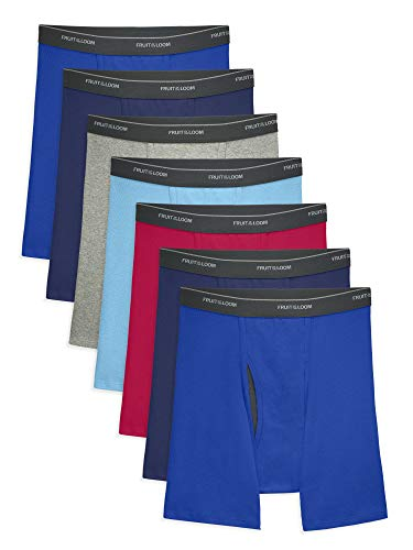 Fruit of the Loom Men's CoolZone Boxer Briefs, 7 Pack - Assorted Colors, Medium