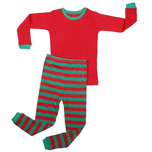 - Elowel Pajamas Red Top & Red Green Pants Size 12