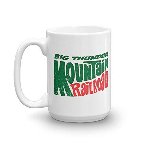 (Big Thunder Mountain Dew 15 oz White Ceramic Funny Biker Coffee Tea Mug Perfect Gift For Motorcyclist Bicyclist Men Women)