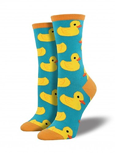 Womens Rubber Duck (Socksmith Womens' Novelty Crew Socks