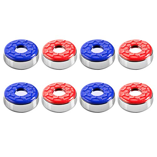 Lowest Prices! IdealEnjoy Shuffleboard Pucks 2-1/8''(53mm),Set of 8(red&Blue)