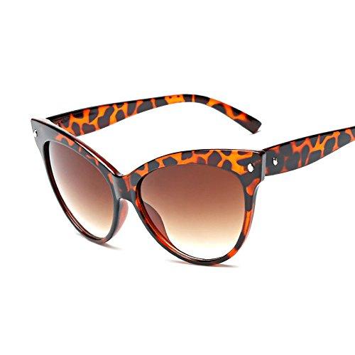 Negro De Mujer Vidrio Color W Leopard Ojos Sol Brillante TEA De Para De Gato Grey TIANLIANG04 W La Gafas Señorita PBfOWfnp